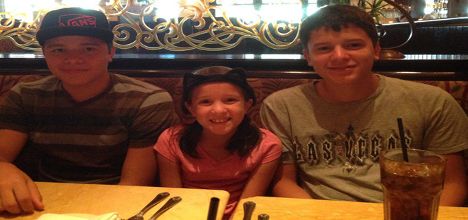 Cheesecake Factory With Uncles Marti and Richard