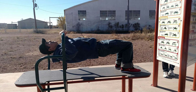 Christian Working Out at Airport Park
