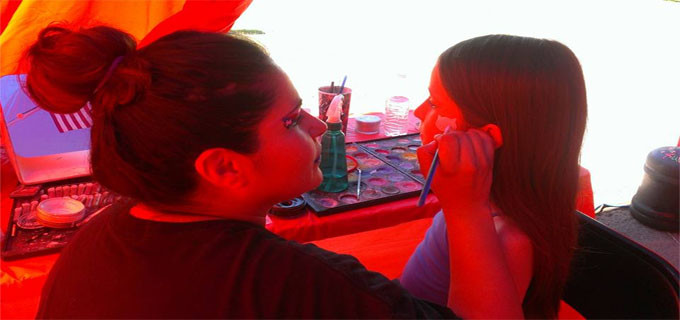 Face painting 4th of July 2015