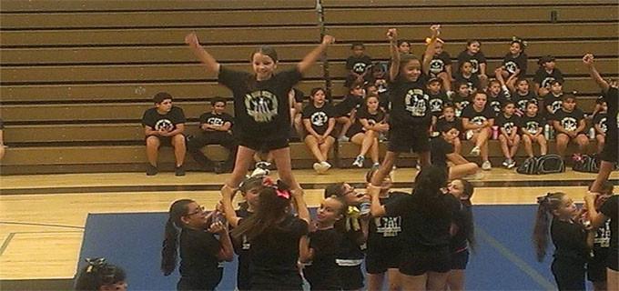 Star at cheer camp